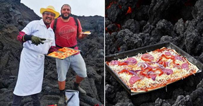 Pyszności: pizza pieczona na lawie wulkanicznej w Gwatemali