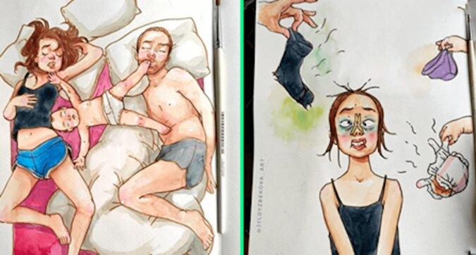 10 komiksów, które są prawdziwe aż do bólu o tym, jak wygląda dzień z życia matki dwójki dzieci