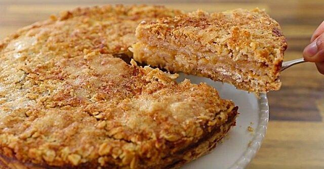 Ciasto owsiane z jabłkami. Pyszny deser