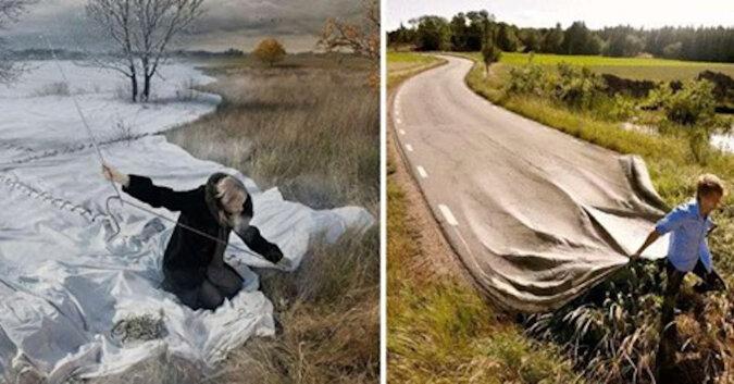 Niesamowite fabuły i zadziwiające światy: fotomanipulacja autorstwa Erica Johanssona