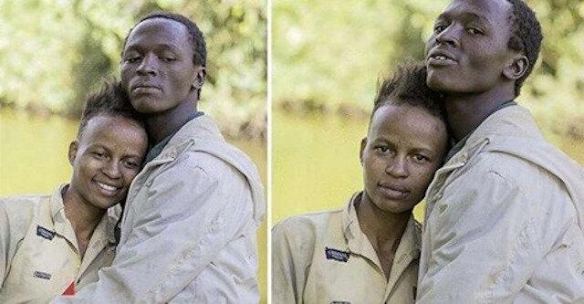 """Fotograf """"przerobił"""" tę bezdomną parę do sesji zdjęciowej – ciężko ich rozpoznać"""
