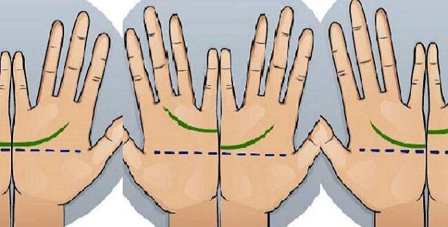 Środkowe linie. Złącz dłonie i sprawdź czy złączą się. Zobacz, co to oznacza