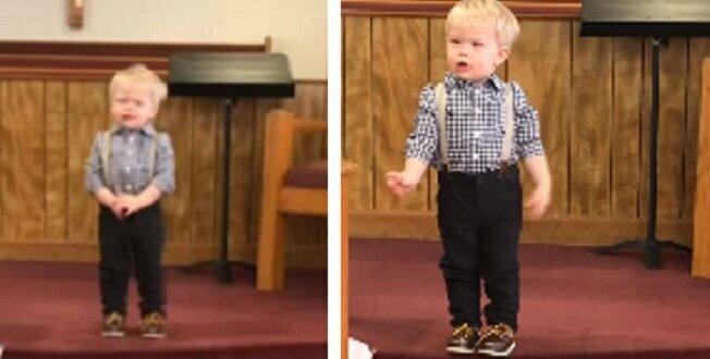 Cały kościół pękał ze śmiechu gdy 2-latek wygłosił kazanie