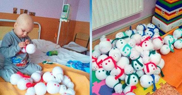 4-letni dzieciak własnoręcznie szył zabawki, aby zebrać fundusze na leczenie
