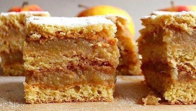 Delikatne ciasto z warstwą jabłek
