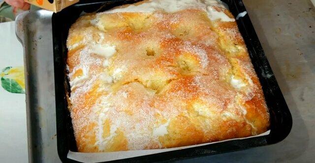 Niezwykle pyszne ciasto cukrowo-maślane - zwiewna rozkosz