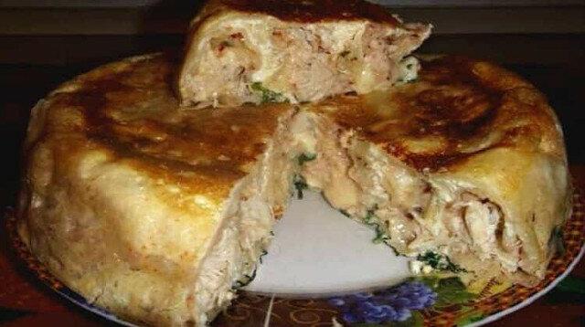 Łatwe ciasto z kurczakiem: udany przepis ciasta na kefirze