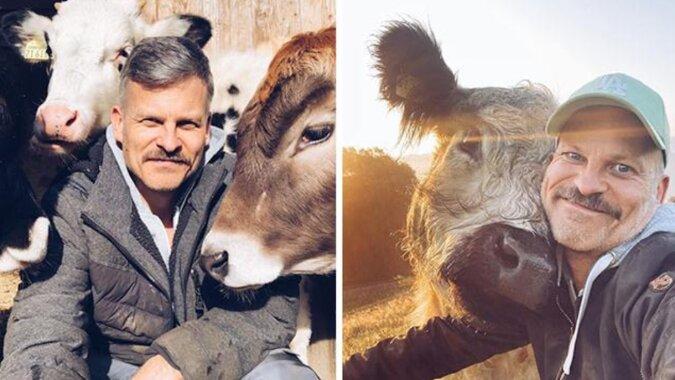 Rolnik postanowił udowodnić, że zwierzęta to nie tylko żywność