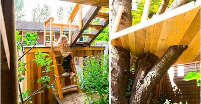 Troskliwy ojciec zbudował domek na drzewie dla swoich córek. Okazał się fantastyczny