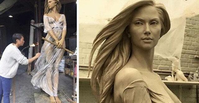 """Chińska artystka rzeźbi kobiety """"jak z renesansu"""". Wyglądają, jakby były żywe"""