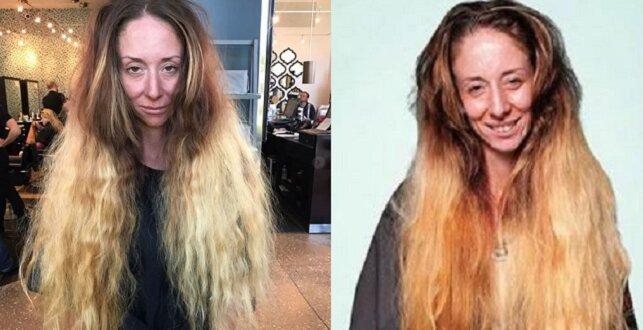 Kobieta poprosiła o nową fryzurę. Siedem godzin współpracy z fryzjerem i makijażystą dały fenomenalny efekt