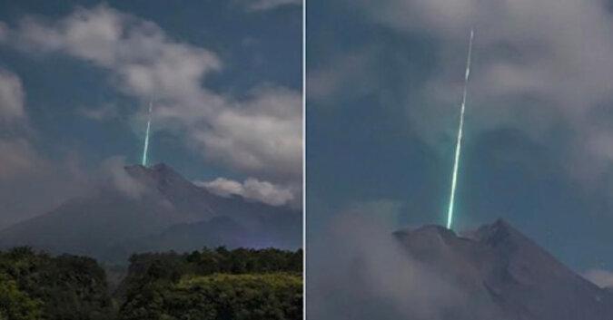 Znak z nieba: meteor uderzył bezpośrednio w wulkan Merapi