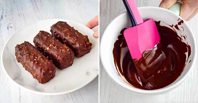 Batoniki twarogowe w polewie czekoladowej. Stokrotnie smaczniejsze niż kupione w sklepie