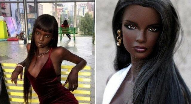 Świat został podbity przez ciemnoskórą modelkę o wyglądzie lalki